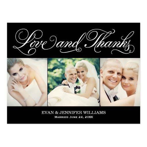 Love and Thanks | Wedding Postcard Thank You