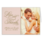 Love and Thanks | Wedding Thank You Card