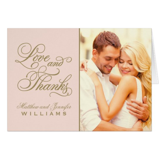 Love and thanks wedding thank you card zazzle love and thanks wedding thank you card altavistaventures Images