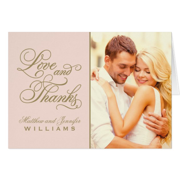 Love and Thanks Wedding Thank You Card Zazzlecom