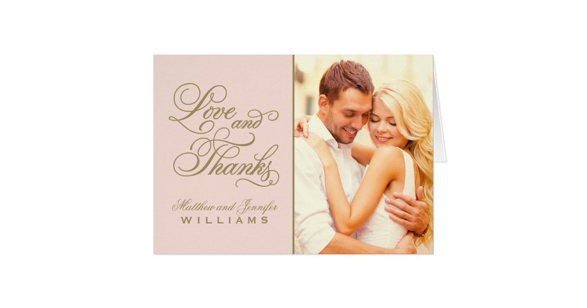Love and thanks wedding thank you card for Thank you cards for wedding