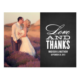LOVE AND THANKS | WEDDING THANK YOU POST CARD