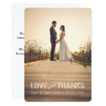 Love and Thanks | Wedding Typography Overlay | Card