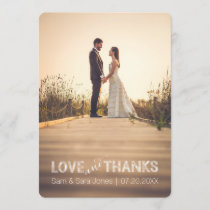 Love and Thanks | Wedding Typography Overlay | Thank You Card