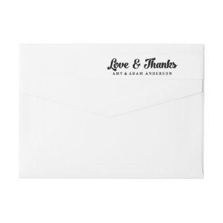 Love and Thanks Wedding Wraparound Address Label