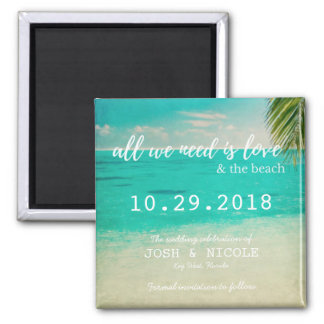 Love and the Beach Wedding Save the Date Magnets