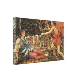 Love and the Maiden by Stanhope, Victorian Angel Gallery Wrap Canvas