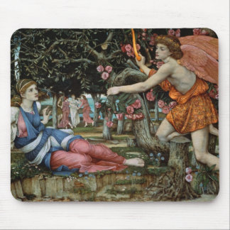 Love and the Maiden (oil on canvas) Mouse Pad