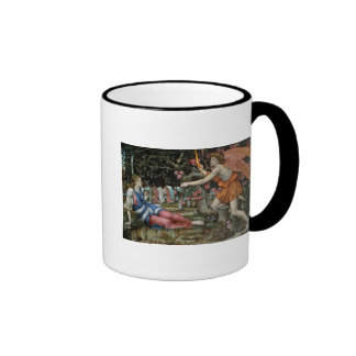 Love and the Maiden (oil on canvas) Coffee Mugs
