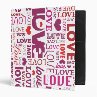 Love and wedding  typography photo album binder