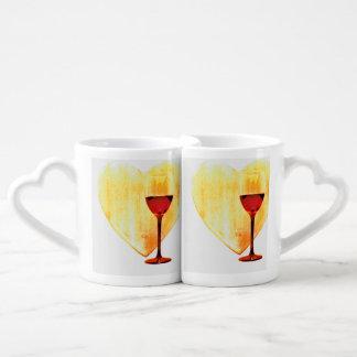 Love and wine coffee mug set