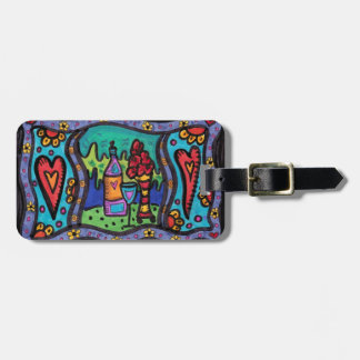 Love and Wine Luggage Tag