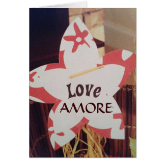 LOVE AND YOU MAKE ME HAPPY IN ITALIAN - AMORE CARD
