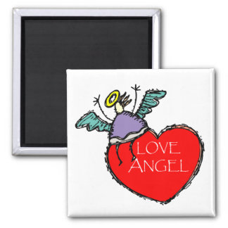 LOVE ANGEL 2 INCH SQUARE MAGNET