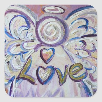 Love Angel Inspirational Word Art Decal Stickers
