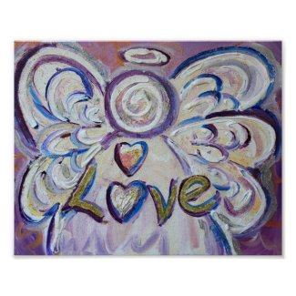 Love Angel Inspirational Word Art Print Poster