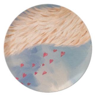 Love Angel Melamine Plate