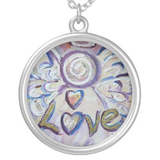 Love Angel Necklace Pendant Jewelry