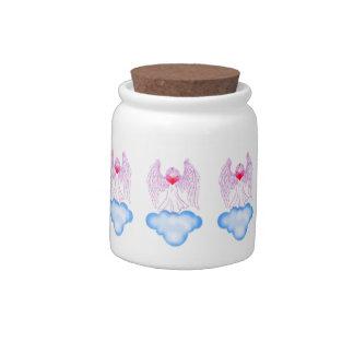 Love Angel Porcelain Cookie Jar