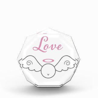 Love Angel Small Acrylic Octagon Award