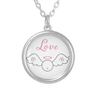 Love Angel Sterling Silver Necklace