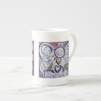 Love Angel Word Bone China Mug