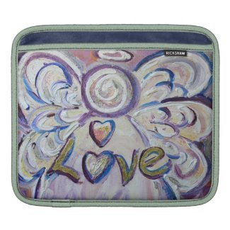 Love Angel Word iPad Sleeve Case