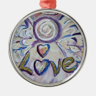 Love Angel Word Love Ornament