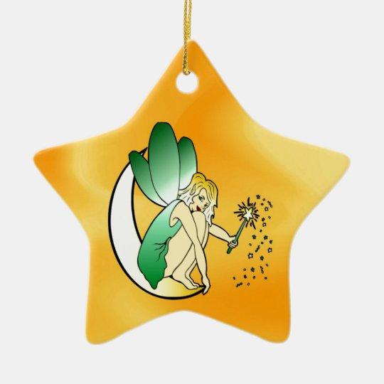 Love angle lights up peace joy ceramic ornament