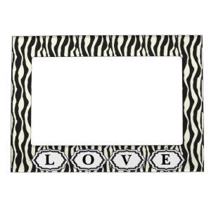 Zebra Print Picture Frames Zazzle