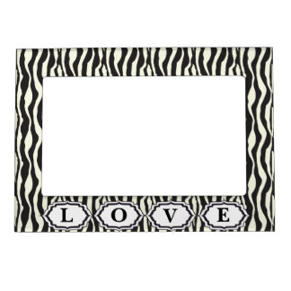 Love Animal Zebra Print Magnetic Frame