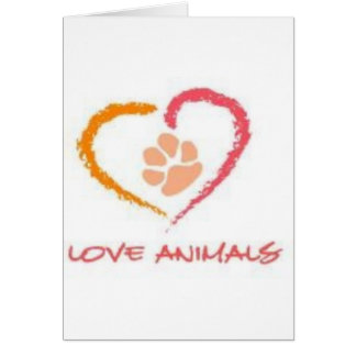 Love Animals Card