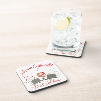 Love Animals Dont Eat Them Coaster