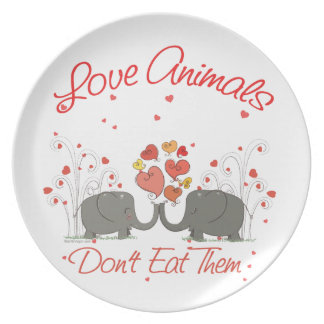 Love Animals Dont Eat Them Plate