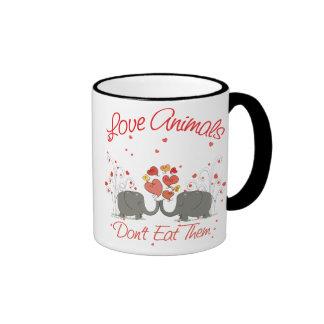 Love Animals Dont Eat Them Ringer Mug