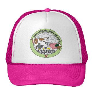 Love Animals Dont Eat Them Vegan Hats