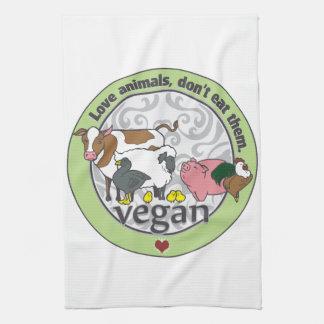 Love Animals Dont Eat Them Vegan Kitchen Towels
