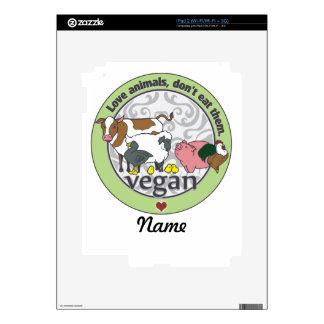 Love Animals Dont Eat Them Vegan Decal For iPad 2