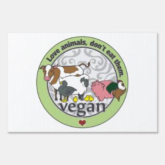 Love Animals Dont Eat Them Vegan Sign