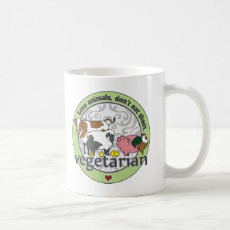 Love Animals Dont Eat Them Vegetarian Coffee Mug