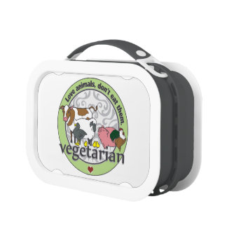Love Animals Dont Eat Them Vegetarian Yubo Lunch Box