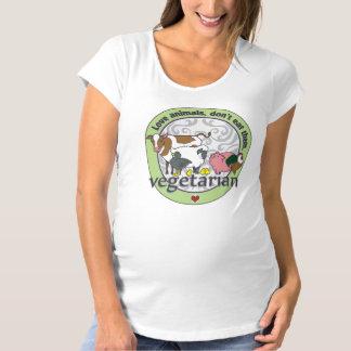 Love Animals Dont Eat Them Vegetarian Maternity T-Shirt