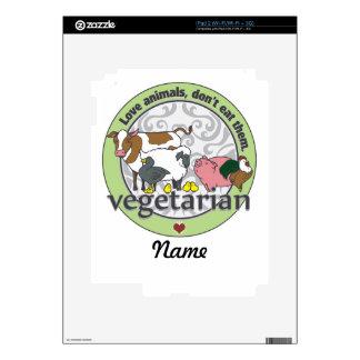 Love Animals Dont Eat Them Vegetarian iPad 2 Decal