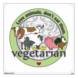 Love Animals Dont Eat Them Vegetarian Wall Sticker