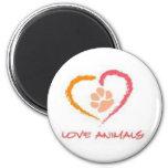 Love Animals Fridge Magnets