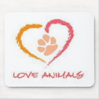 Love Animals Mouse Pad