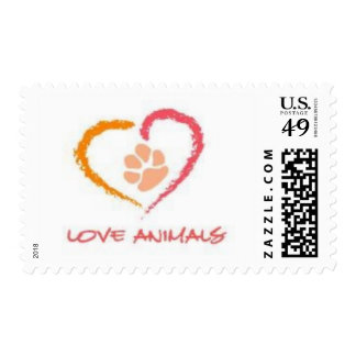 Love Animals Stamps