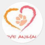 Love Animals Stickers