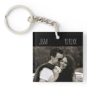 MaggieMart Love Anniversary Couple Photo Date Initials Keychain