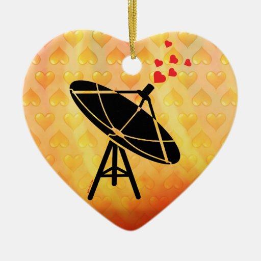 Love Antenna Ceramic Ornament